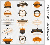 collection of vintage sales... | Shutterstock .eps vector #235294789