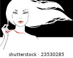 glamour girl with developing... | Shutterstock .eps vector #23530285