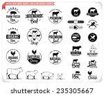 Stock vector vintage meat logos badges labels and design elements 235305667