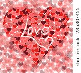 hearts and love   red design  | Shutterstock .eps vector #235307455
