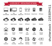 vpn icon set   24 icon set  ... | Shutterstock .eps vector #235309411