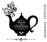 Christmas Teapot With Floral...