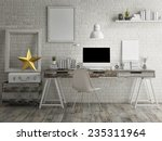 loft workspace background | Shutterstock . vector #235311964
