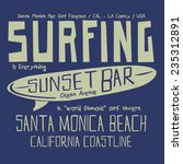 california surf typography  t... | Shutterstock .eps vector #235312891