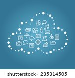 cloud computing concept | Shutterstock .eps vector #235314505