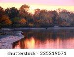 scenic autumn landscape pink... | Shutterstock . vector #235319071