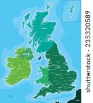 color map of great britain and... | Shutterstock .eps vector #235320589