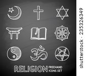 world religion hand drawn on a... | Shutterstock .eps vector #235326349