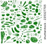 vegetable collection  one color ... | Shutterstock .eps vector #235327705