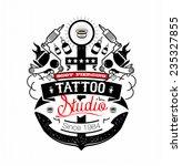 body piercing and tattoo studio ... | Shutterstock .eps vector #235327855