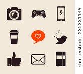 set of social network icons...   Shutterstock .eps vector #235331149