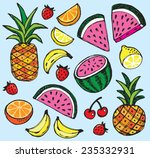vector illustration of fresh... | Shutterstock .eps vector #235332931