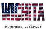 text concept with american...   Shutterstock . vector #235334215