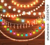 set of glowing christmas lights ... | Shutterstock .eps vector #235334719