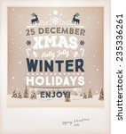 vintage christmas greeting card ... | Shutterstock .eps vector #235336261