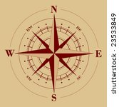 vector   compass rose | Shutterstock .eps vector #23533849