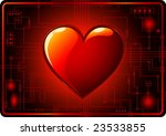 vector   dark valentines day... | Shutterstock .eps vector #23533855