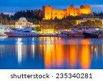 Mandraki Harbour Rhodes Greece...