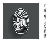 fingerprint sign icon....