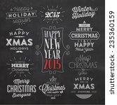 christmas typographic... | Shutterstock .eps vector #235360159