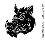 wild boar tattoo | Shutterstock . vector #235367149