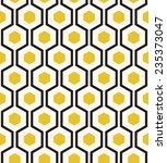 retro geometric hexagon... | Shutterstock .eps vector #235373047