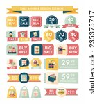 shopping sale banner flat... | Shutterstock .eps vector #235375717