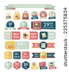 shopping sale banner flat... | Shutterstock .eps vector #235375834