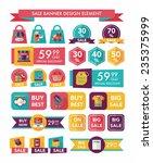 shopping sale banner flat... | Shutterstock .eps vector #235375999