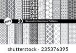 geometric seamless patterns. | Shutterstock .eps vector #235376395