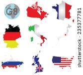 flags of the g8 member... | Shutterstock .eps vector #235377781