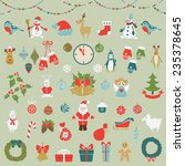 set of christmas and new year... | Shutterstock .eps vector #235378645