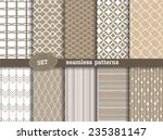 set seamless pattern retro ... | Shutterstock .eps vector #235381147
