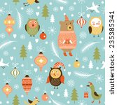 seamless christmas and new year'... | Shutterstock .eps vector #235385341