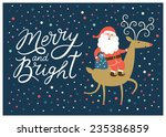 happy new year card  | Shutterstock .eps vector #235386859