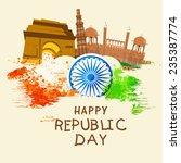 indian republic day celebration ... | Shutterstock .eps vector #235387774