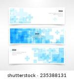 vector set of three header... | Shutterstock .eps vector #235388131