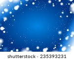 abstract blue winter horizontal ... | Shutterstock .eps vector #235393231