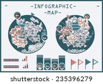 cute maps infographic | Shutterstock .eps vector #235396279