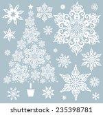 vector set of decorative... | Shutterstock .eps vector #235398781