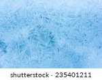 blue background of cold frosty... | Shutterstock . vector #235401211