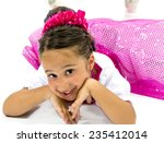 beautiful little girl smiling... | Shutterstock . vector #235412014