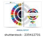 annual report cover design | Shutterstock .eps vector #235412731