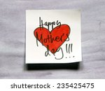 happy mothers day note | Shutterstock . vector #235425475