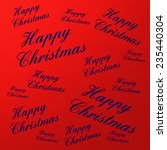 happy christmas text | Shutterstock . vector #235440304