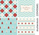 set of retro seamless for... | Shutterstock .eps vector #235450681