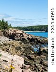 Small photo of Rocky hills and shoals in Acadian Park near Bar Harbor, Maine