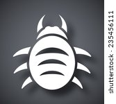 vector bug icon | Shutterstock .eps vector #235456111