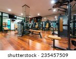 gym interior with equipment | Shutterstock . vector #235457509