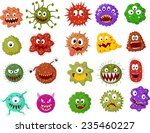 cartoon bacteria collection set | Shutterstock .eps vector #235460227